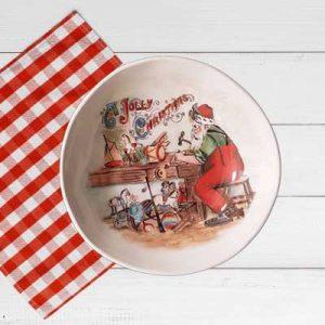 Piatto fondo decoro Babbo Natale