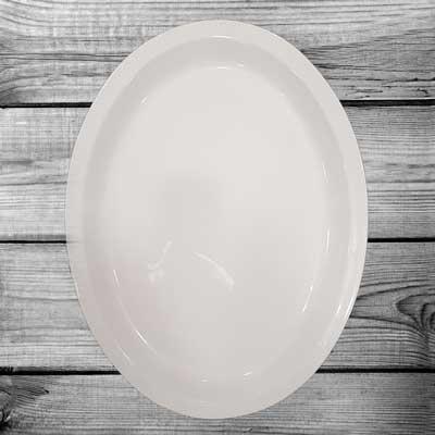 Grande vassoio ovale da tavola in ceramica